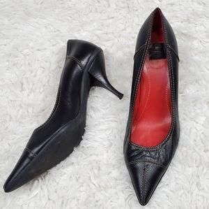 Coach Abigail Black Leather High Heels Size 7